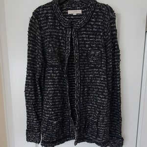 Loft Tweed Maternity Sweater Jacket